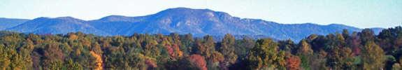 Blue ridge mountains in the fall